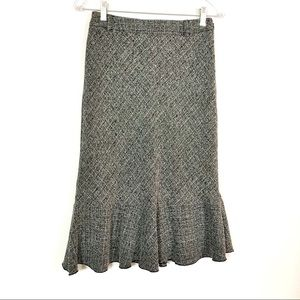 Style & Co. Tiered Grey Tweed Dress Skirt